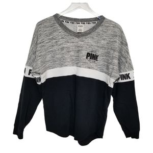 VS Pink Black Grey Varsity Sweatshirt S